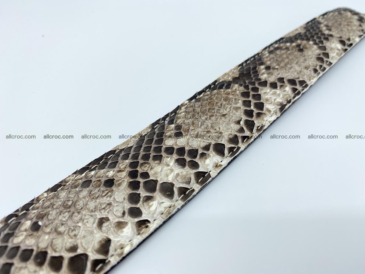 Python snake leather belt 704 Foto 11