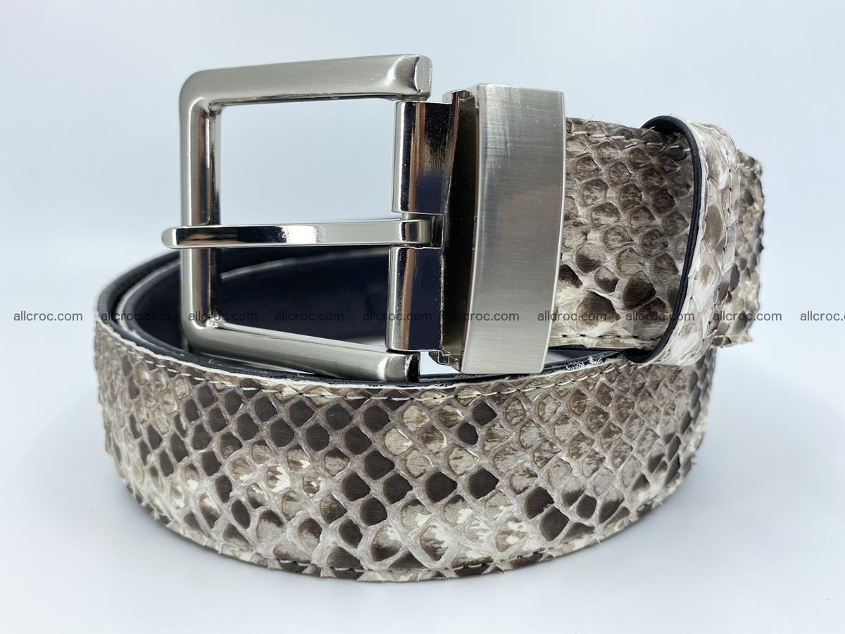 Python snake leather belt 704 Foto 0