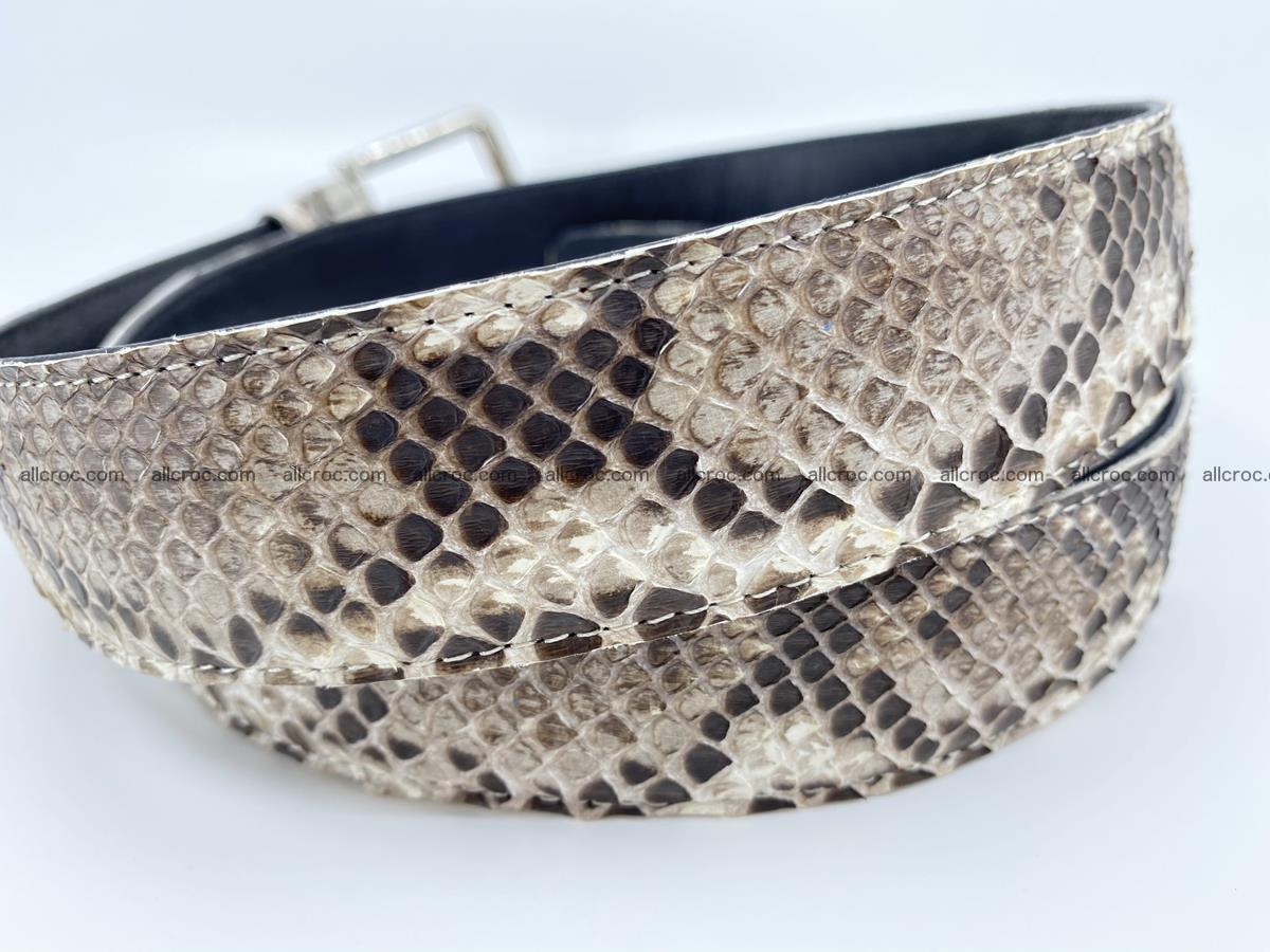 Python snake leather belt 704 Foto 3