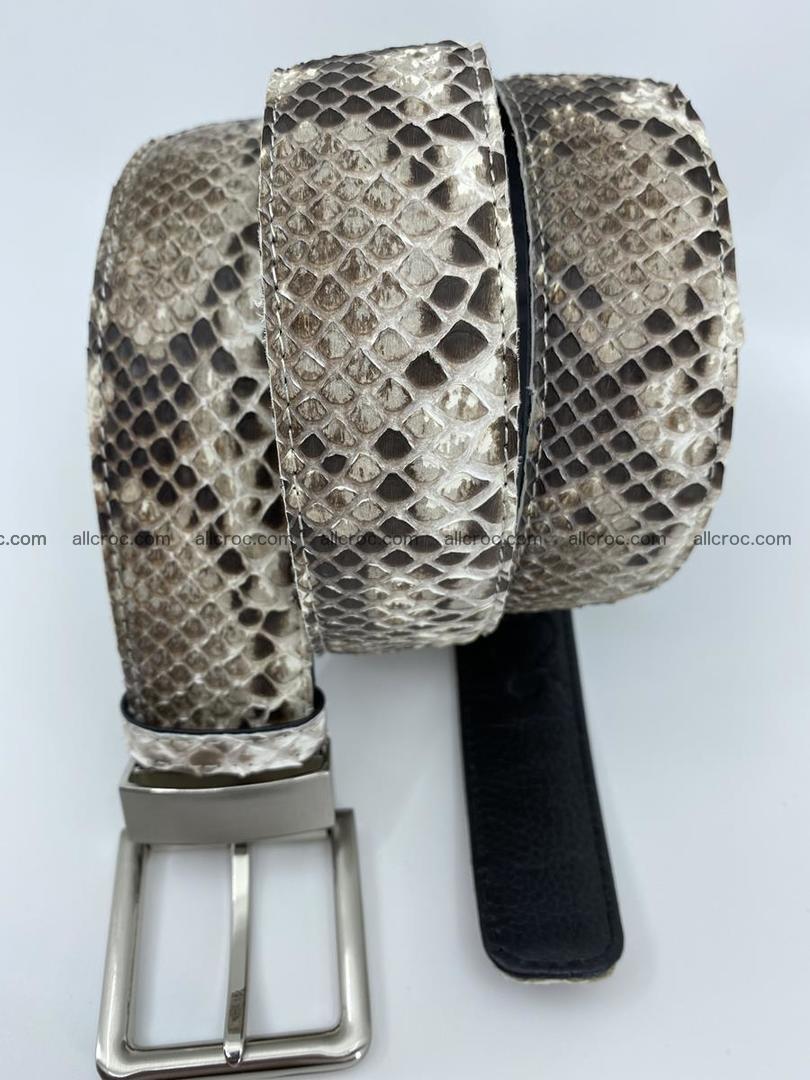 Python snake leather belt 704 Foto 4