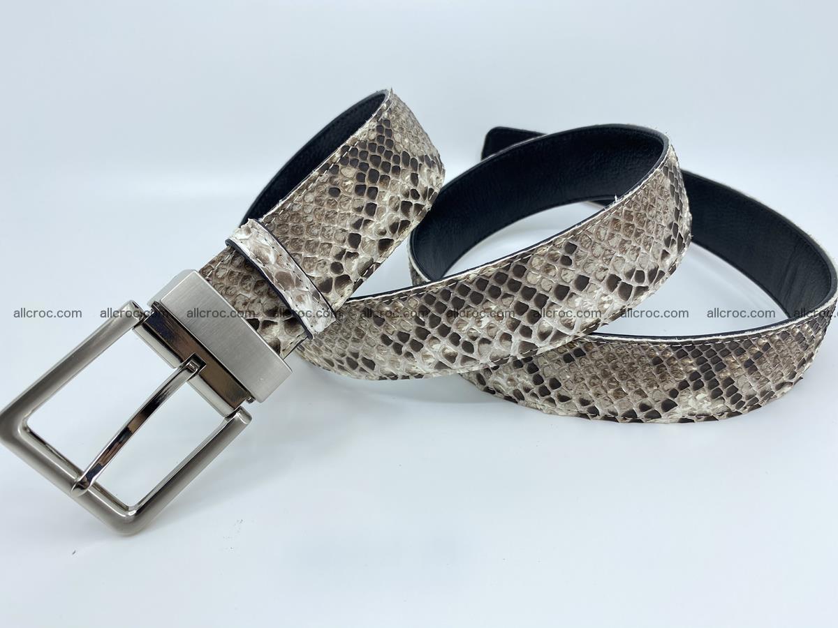 Python snake leather belt 704 Foto 6