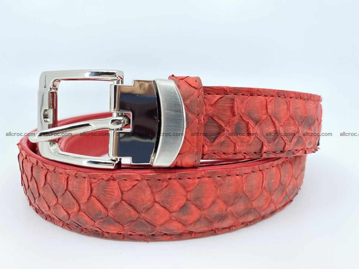 Python snake leather belt 706 Foto 0