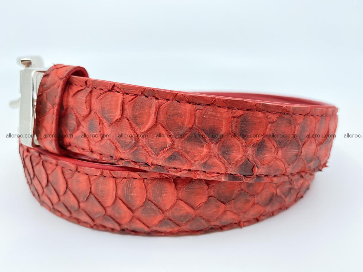 Python snake leather belt 706 Foto 1