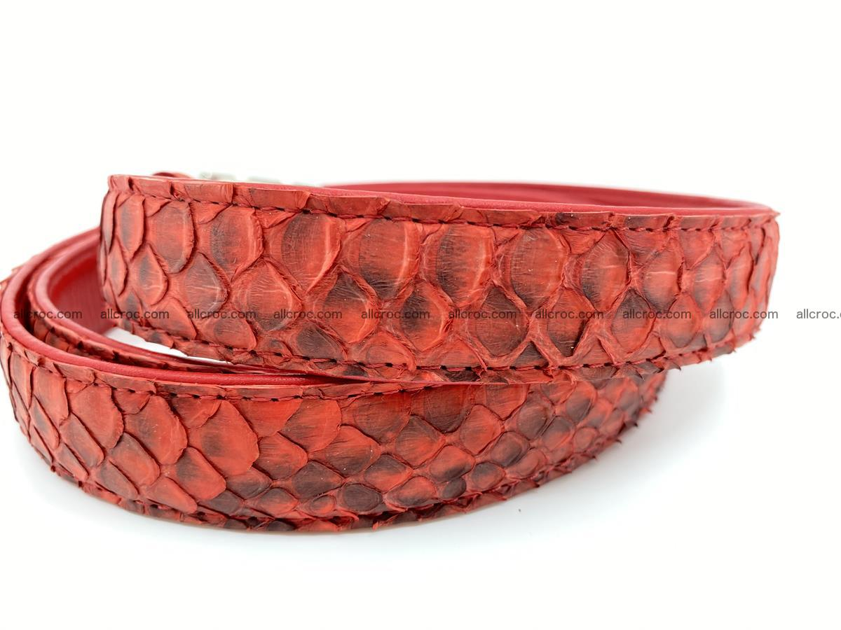 Python snake leather belt 706 Foto 2
