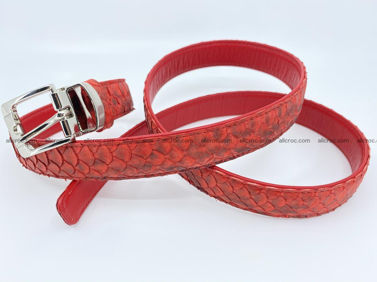 Python snake leather belt 706 Foto 3