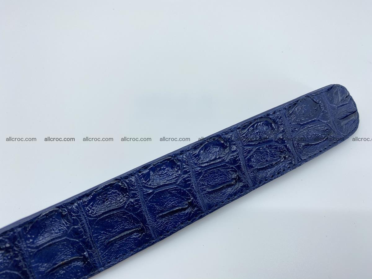 Crocodile leather hornback belt 714 Foto 11