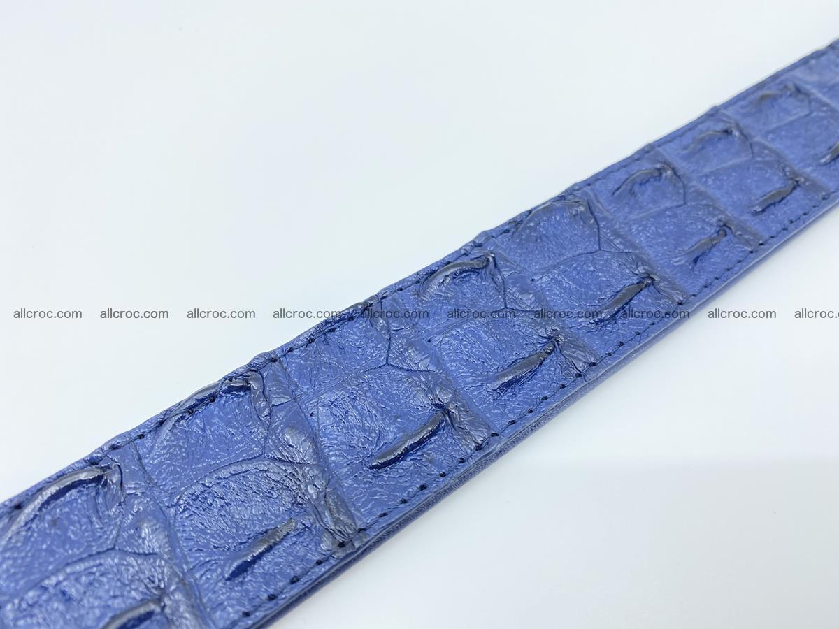 Crocodile leather hornback belt 714 Foto 10