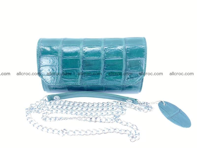 Crocodile leather clutch 673