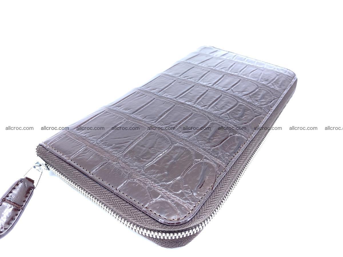 Crocodile skin zip wallet XL-size 599 Foto 1