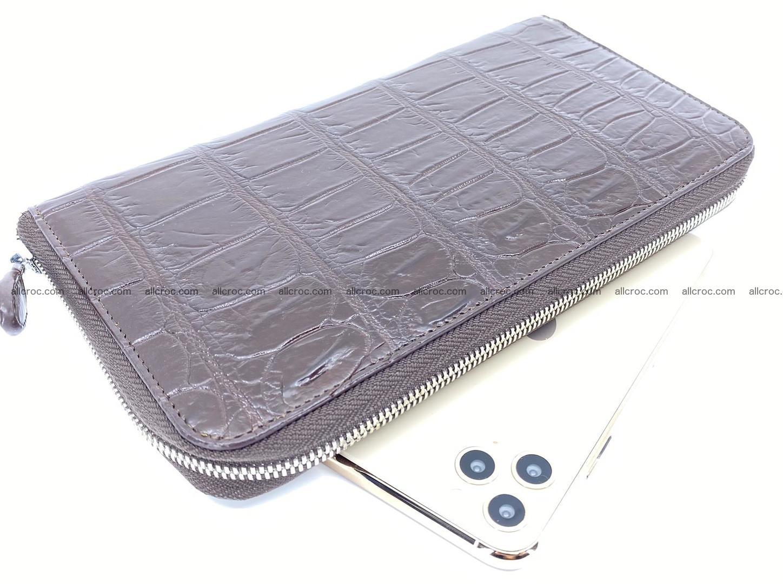 Crocodile skin zip wallet XL-size 599 Foto 0