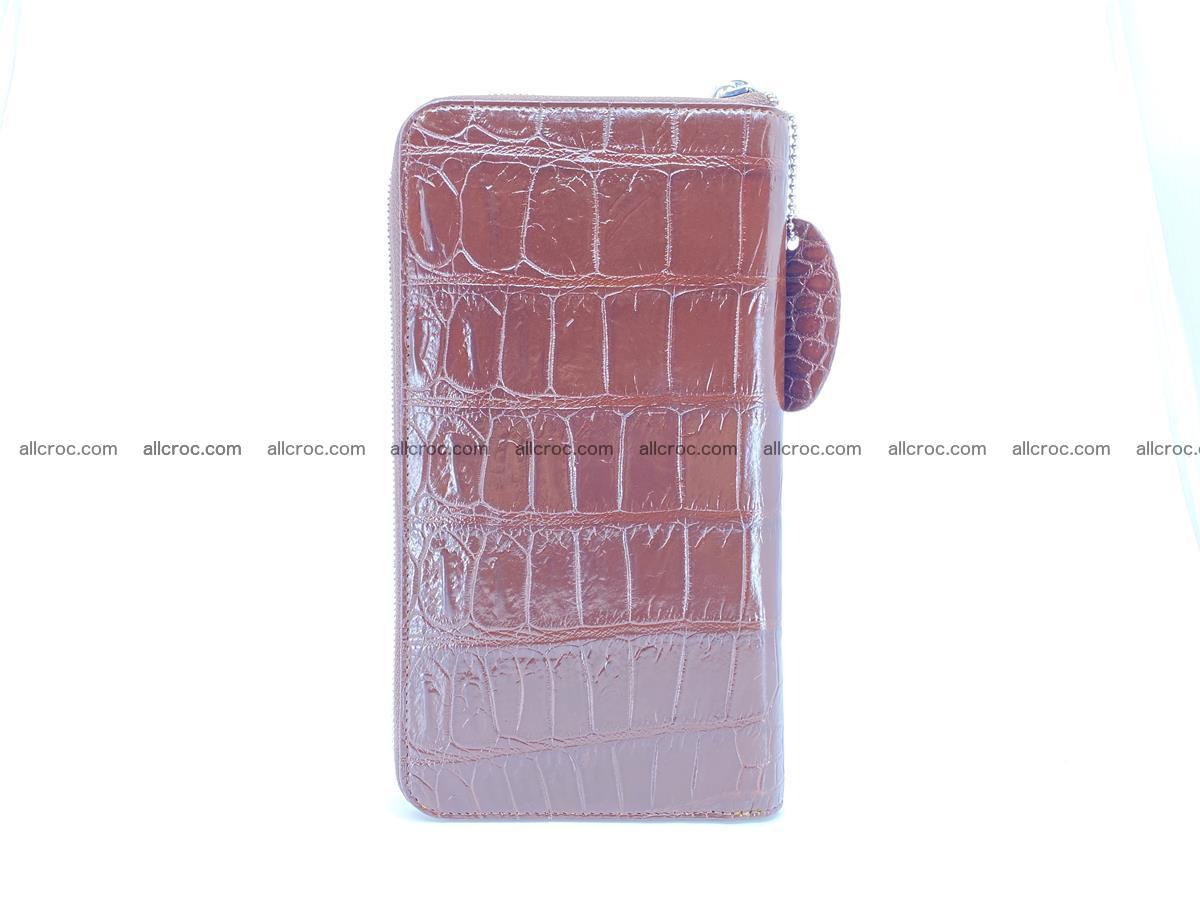 Crocodile skin zip wallet XL-size 599 Foto 4