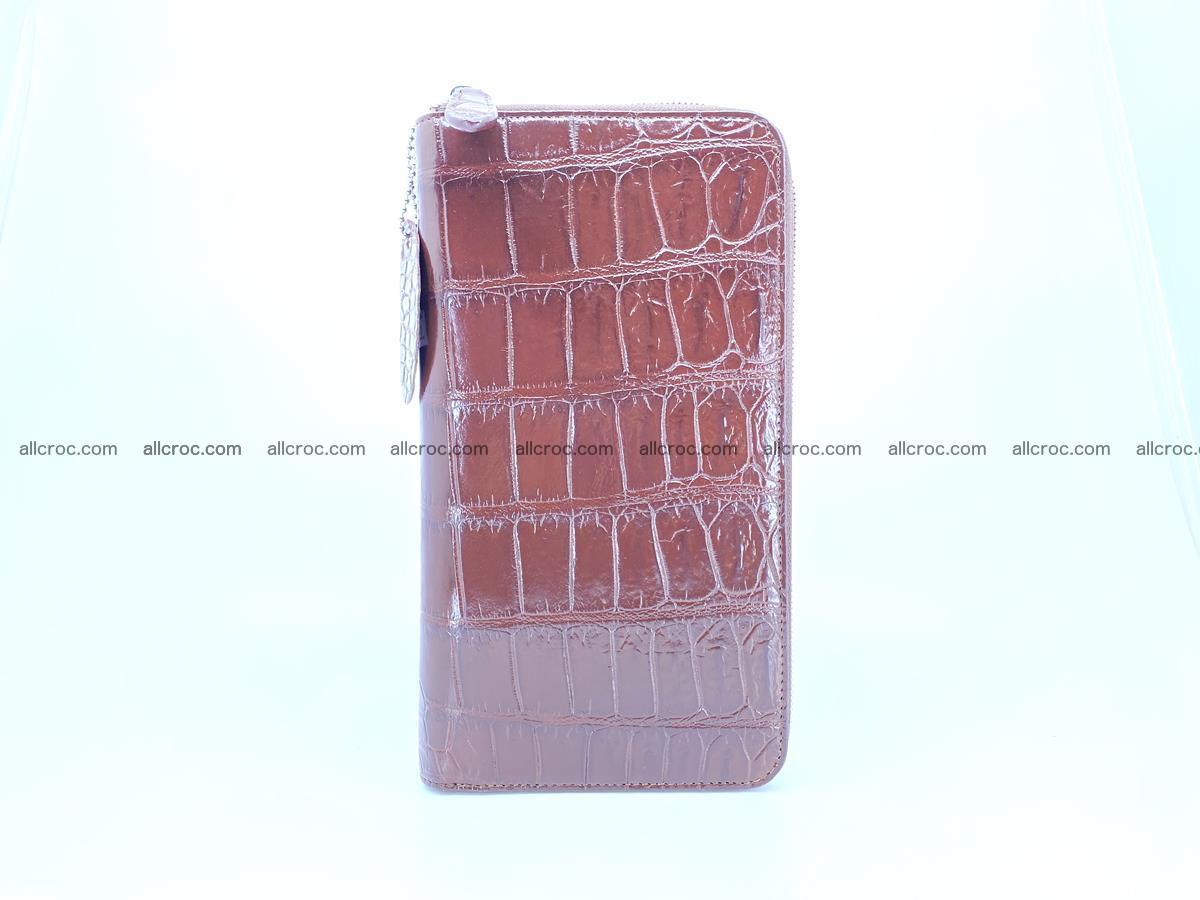 Crocodile skin zip wallet XL-size 599 Foto 7