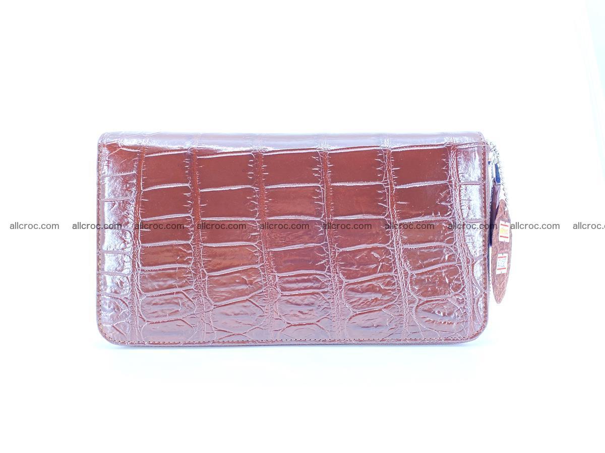 Crocodile skin zip wallet XL-size 599 Foto 2
