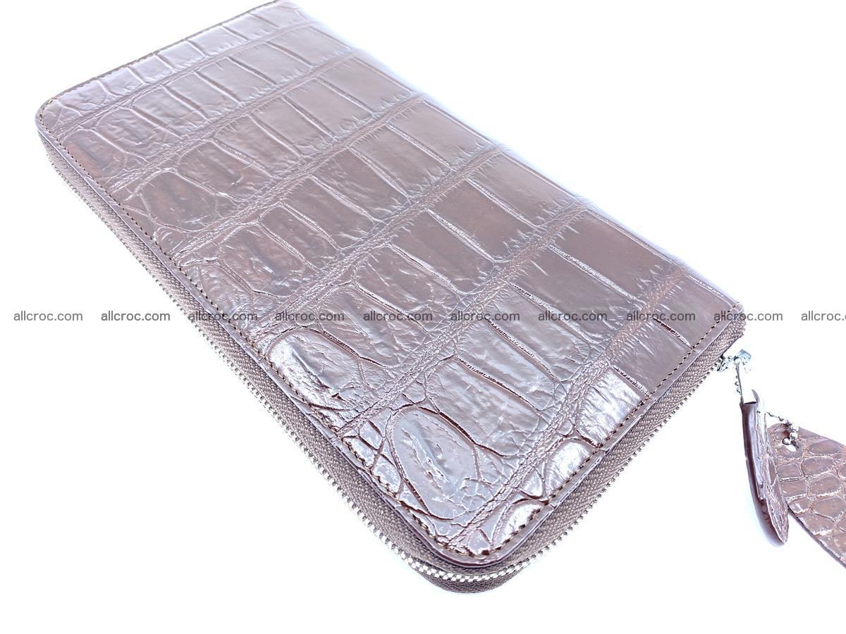 Crocodile skin zip wallet XL-size 599 Foto 6