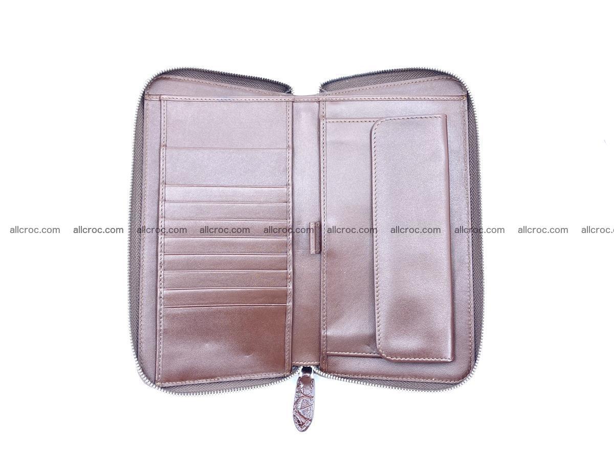 Crocodile skin zip wallet XL-size 599 Foto 9