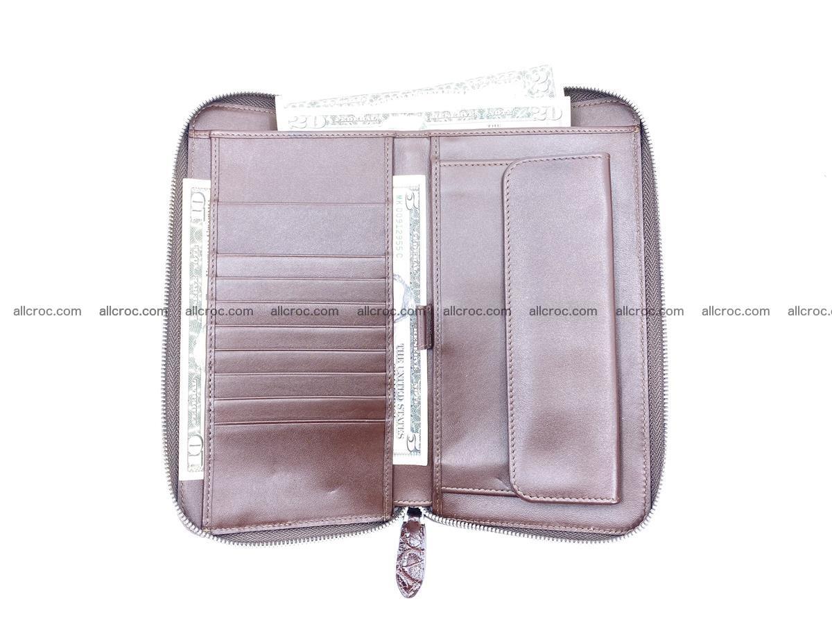 Crocodile skin zip wallet XL-size 599 Foto 10