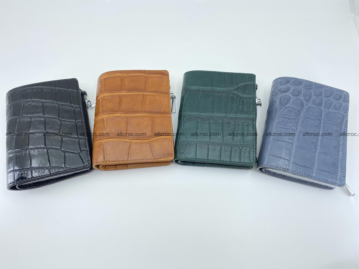 Crocodile leather vertical wallet HK 636 Foto 11