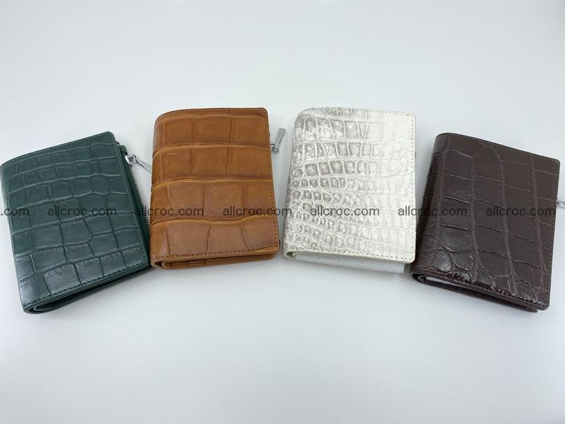 Crocodile leather vertical wallet HK 636