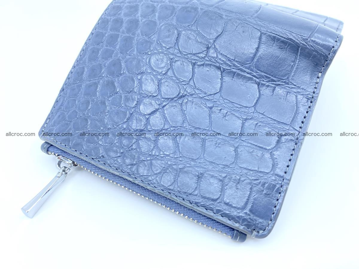 Crocodile leather vertical wallet HK 636 Foto 3