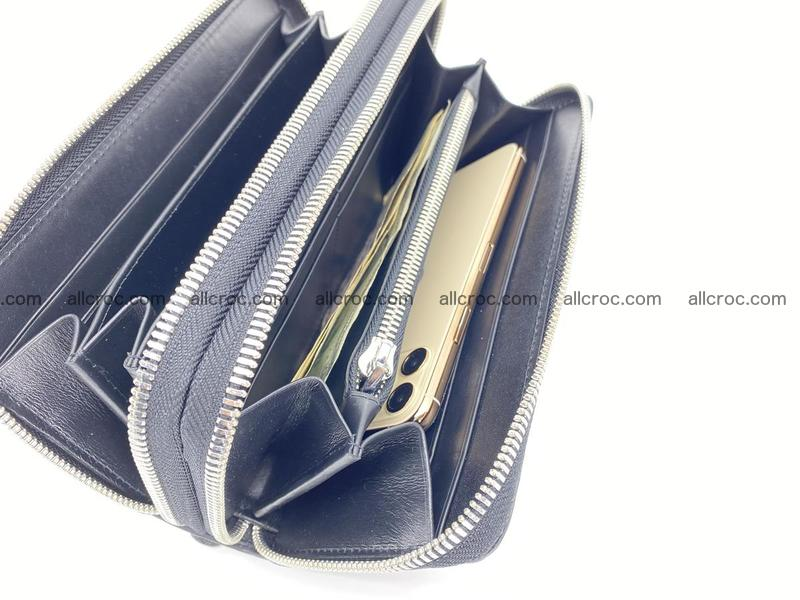 Crocodile leather wallet 2 zips 675