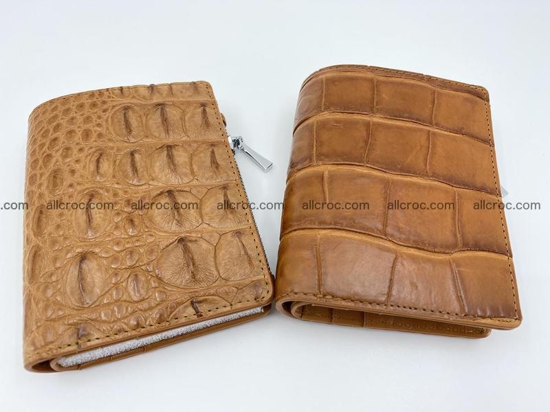 Crocodile leather vertical wallet HK 637