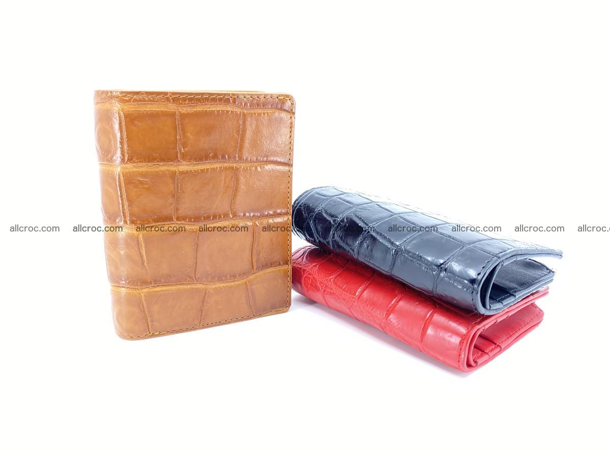 Crocodile leather vertical wallet HK 637 Foto 7