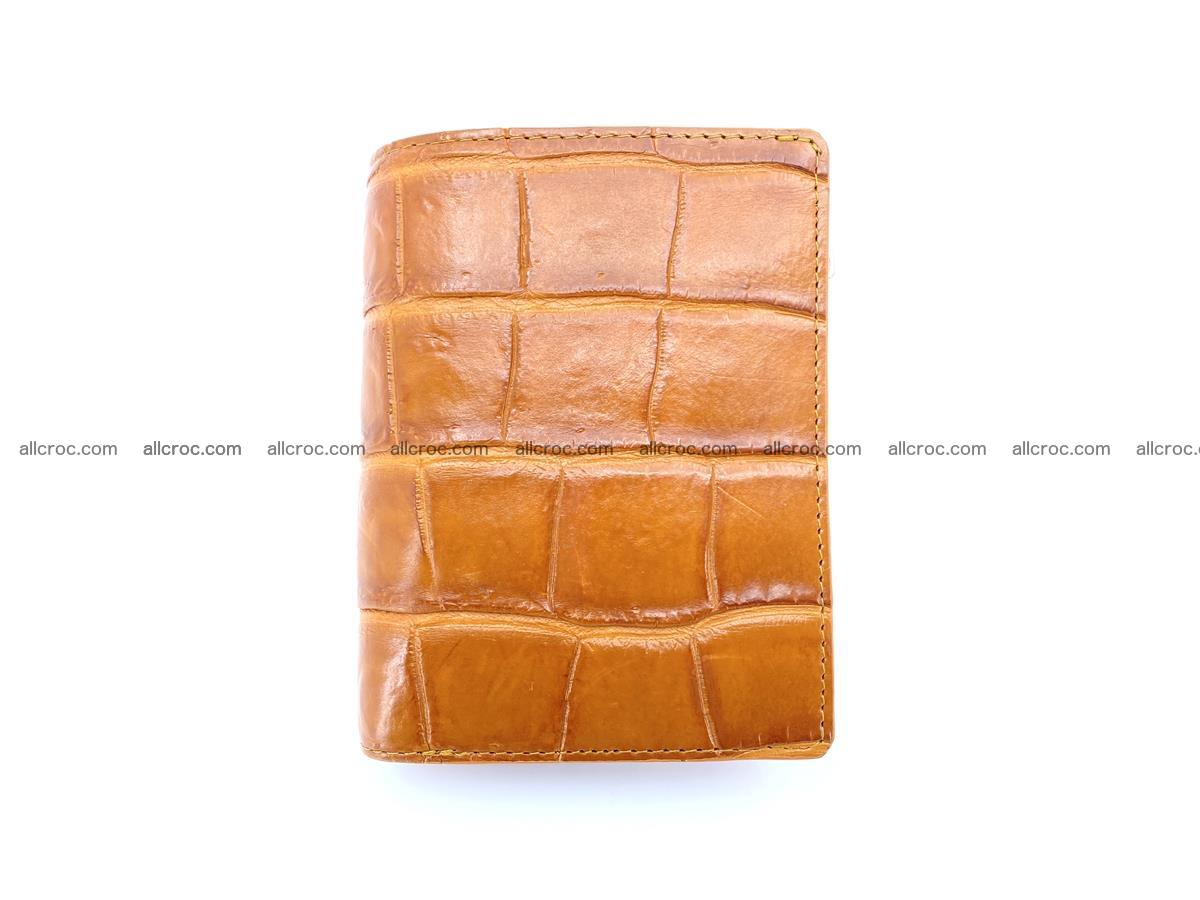 Crocodile leather vertical wallet HK 637 Foto 0