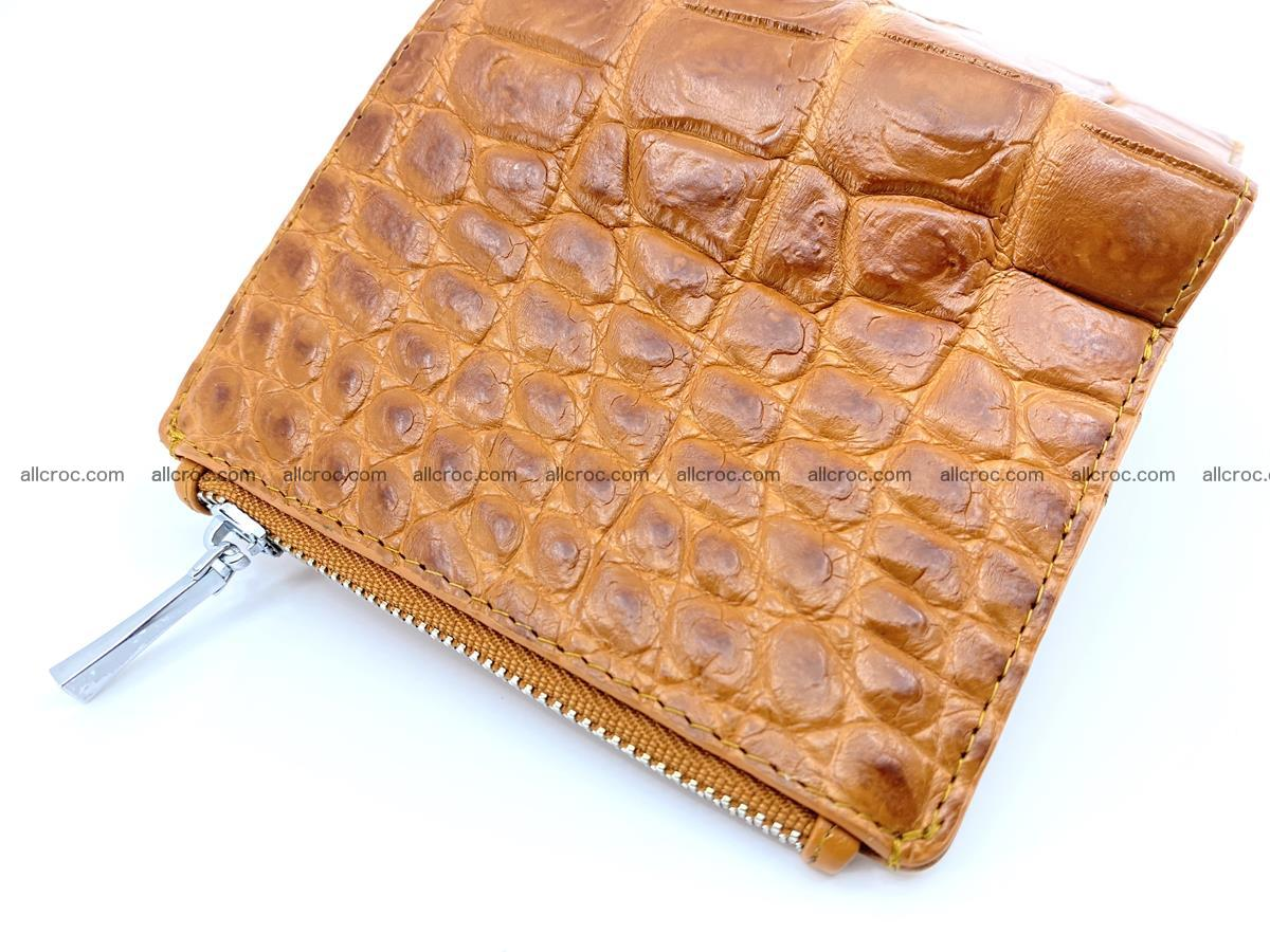 Crocodile leather vertical wallet HK 637 Foto 3