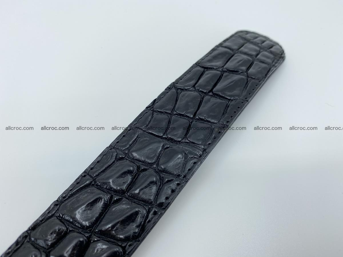 Crocodile leather belt 726 Foto 7