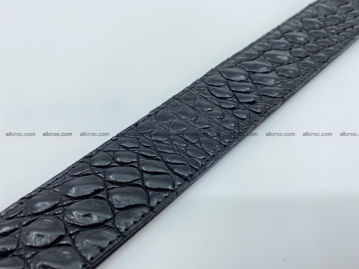 Crocodile leather belt 726 Foto 8