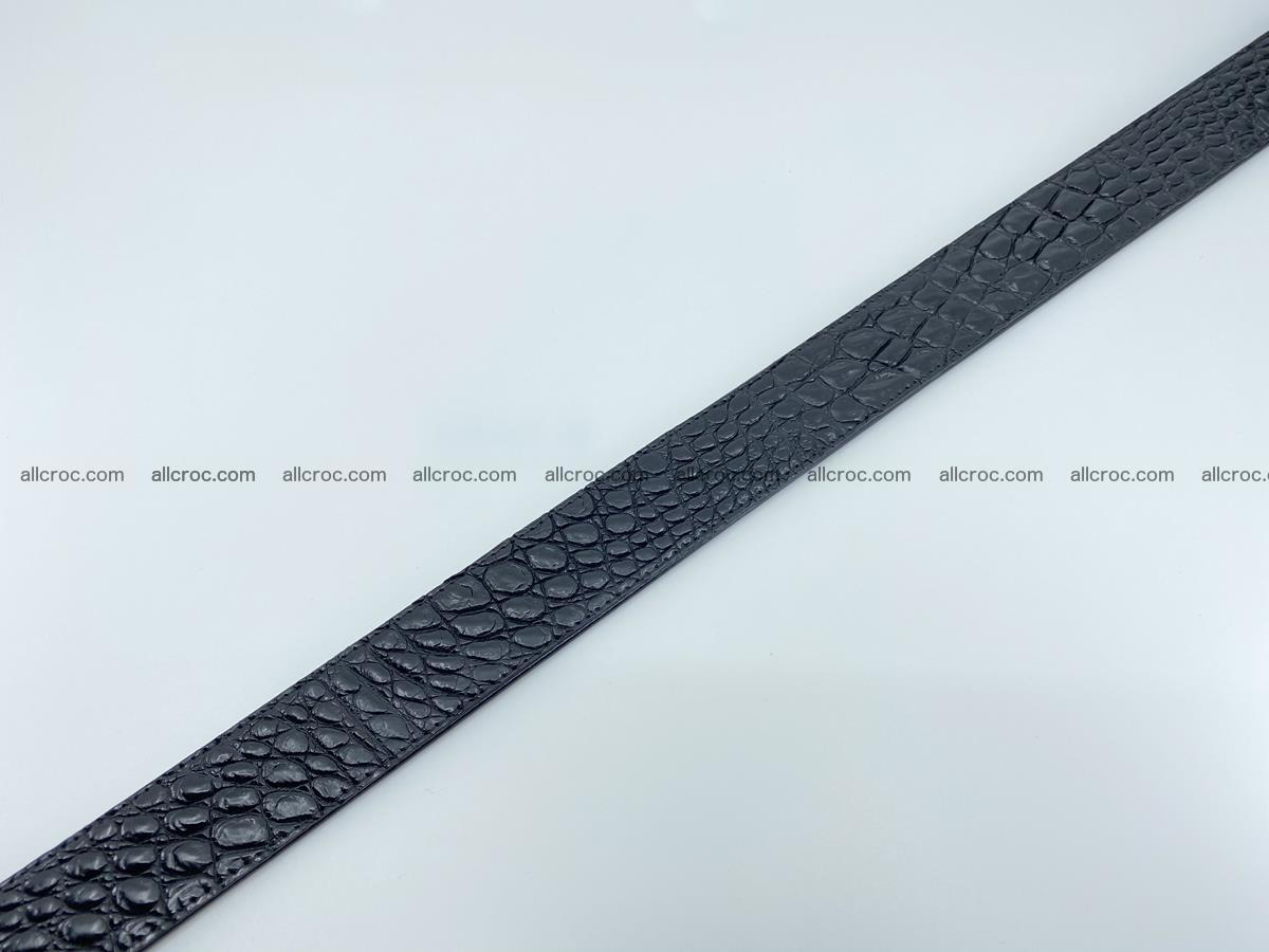 Crocodile leather belt 726 Foto 9