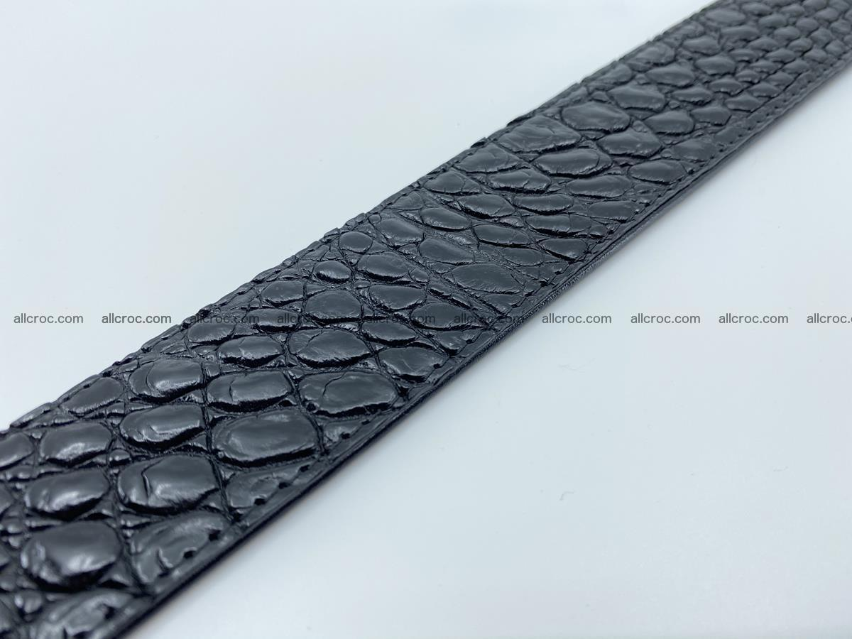 Crocodile leather belt 726 Foto 10