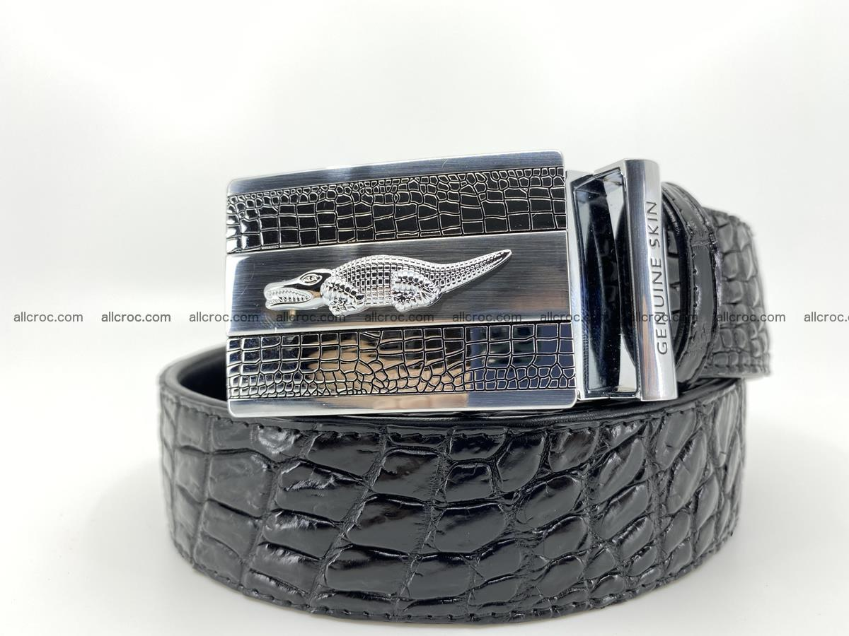 Crocodile leather belt 726 Foto 0
