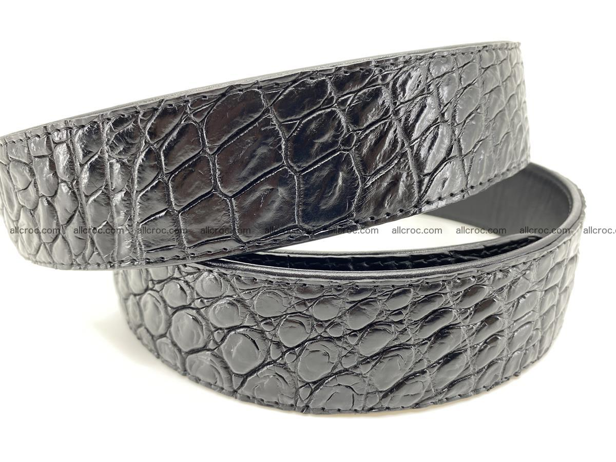 Crocodile leather belt 726 Foto 3