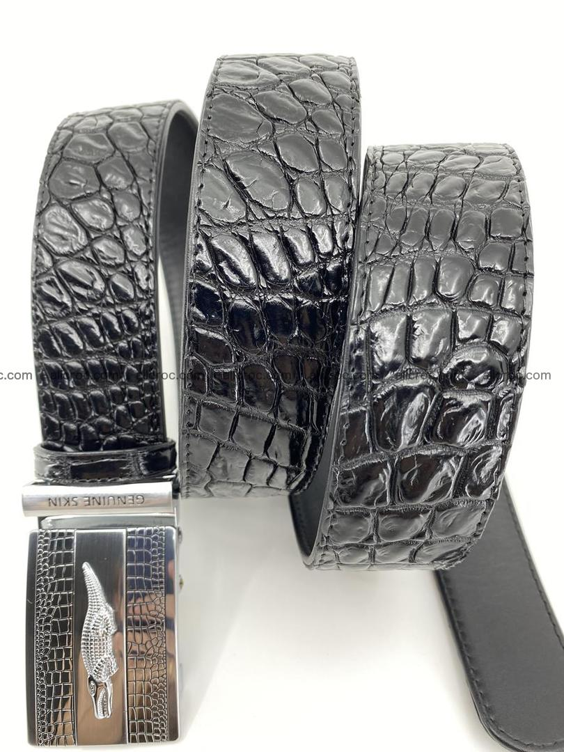 Crocodile leather belt 726 Foto 4