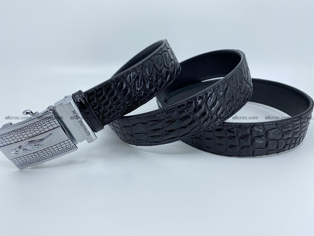 Crocodile leather belt 726 Foto 5