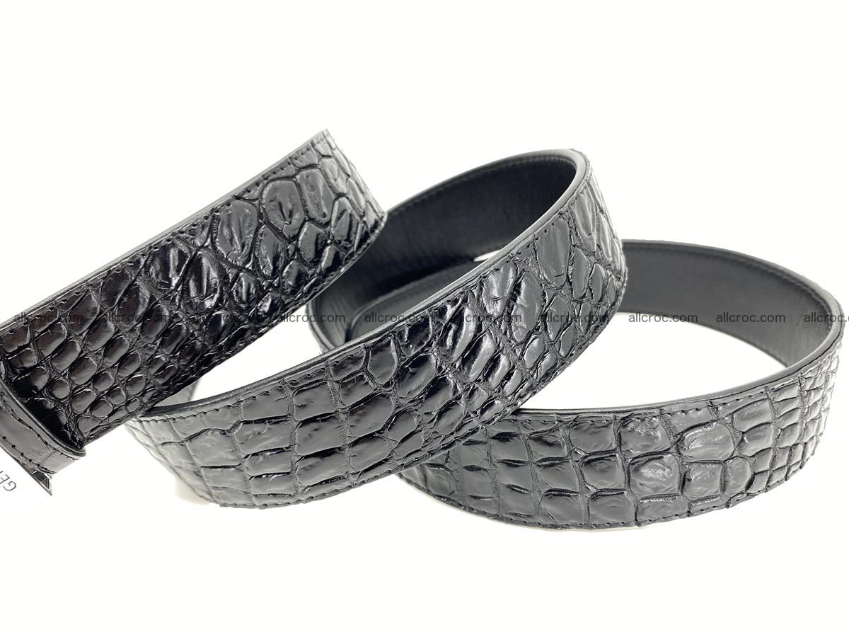 Crocodile leather belt 726 Foto 6