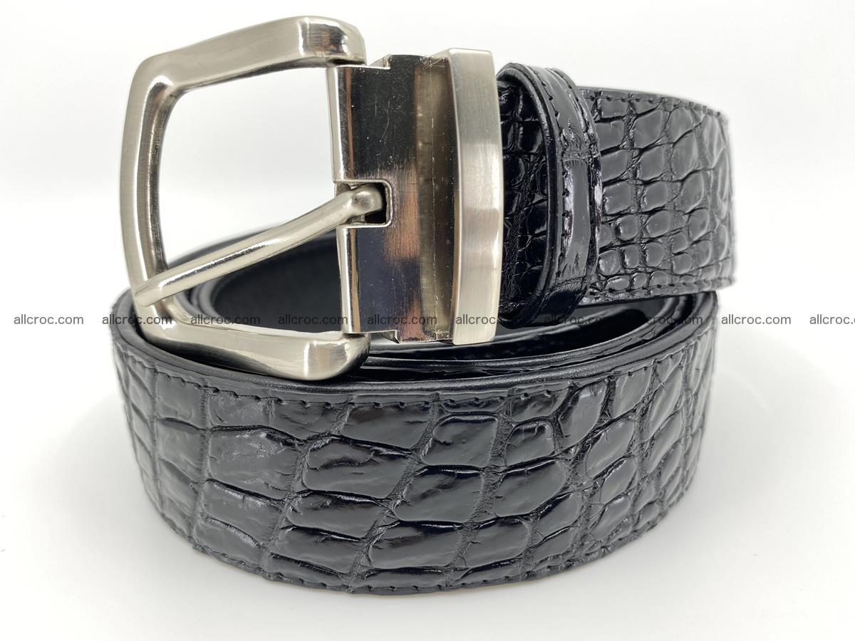 Crocodile leather belt 732 Foto 0