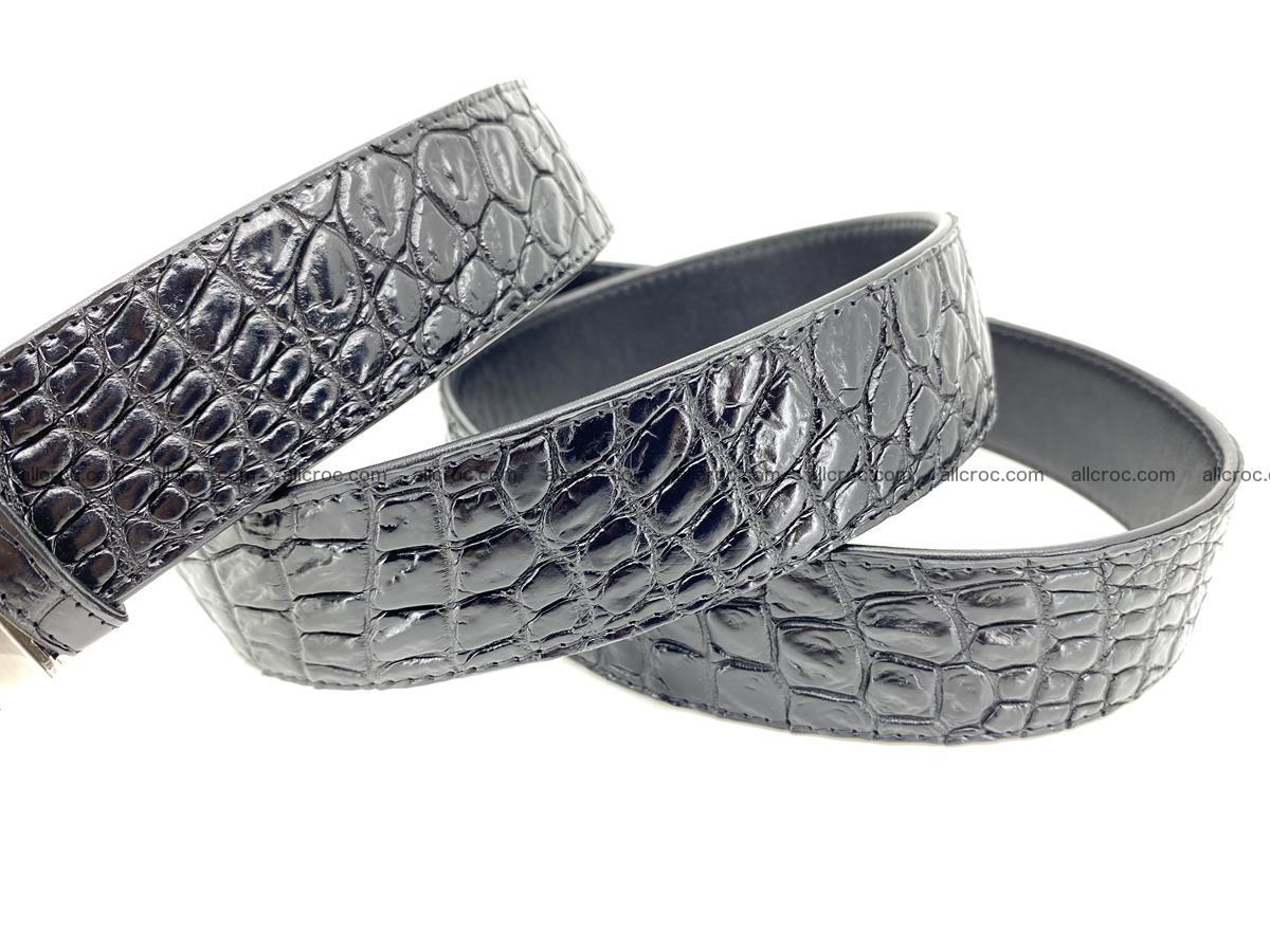 Crocodile leather belt 732 Foto 5