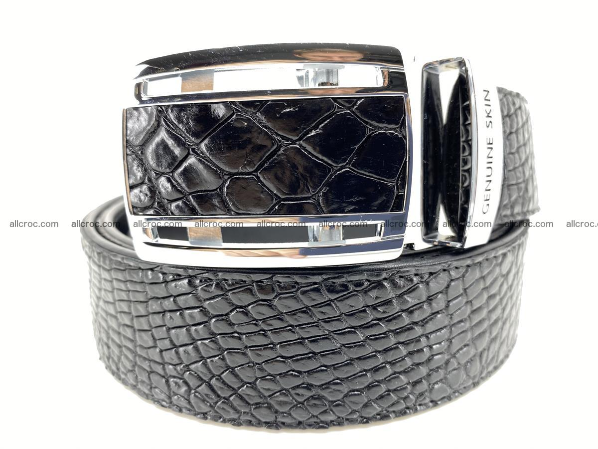Crocodile leather belt 734 Foto 0