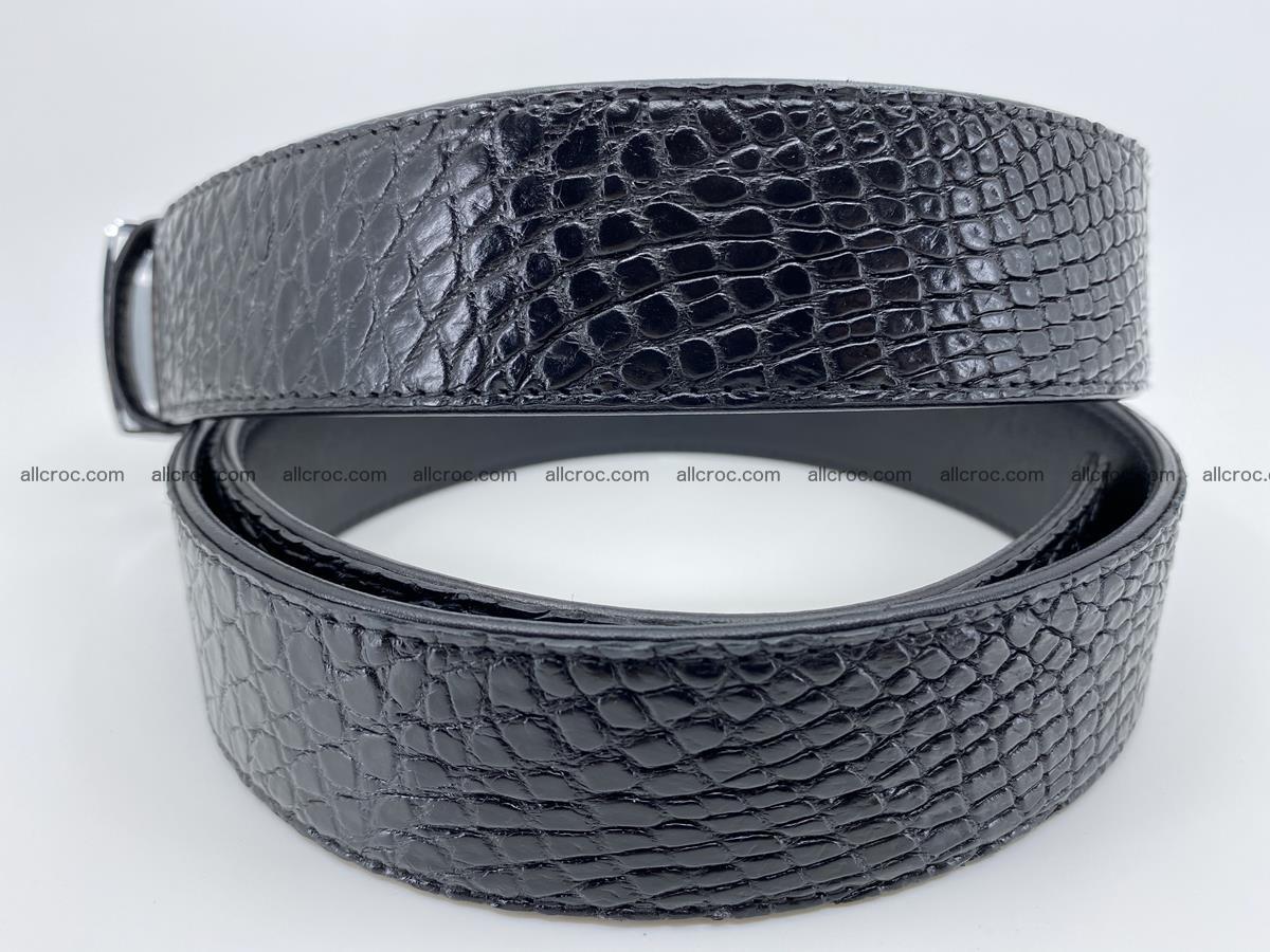 Crocodile leather belt 736 Foto 4
