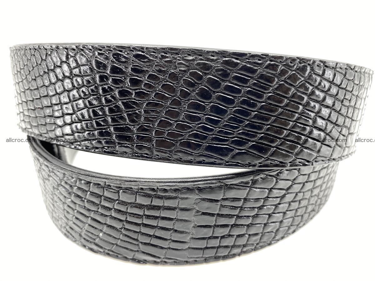 Crocodile leather belt 736 Foto 5
