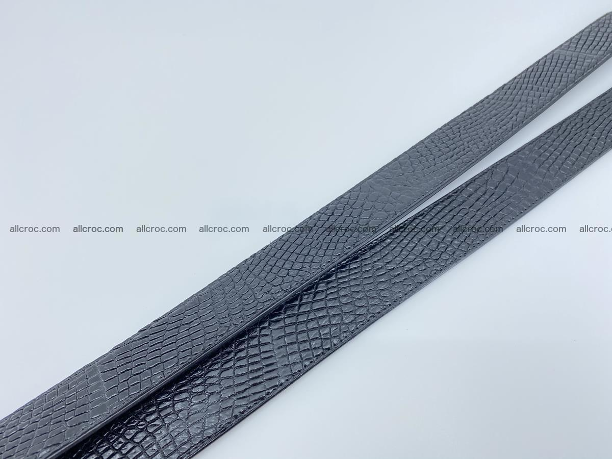 Crocodile leather belt 742 Foto 12
