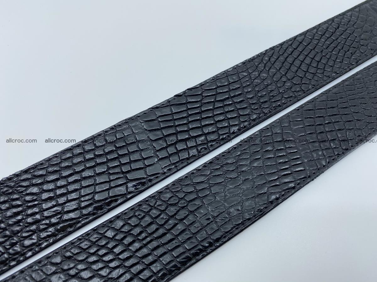 Crocodile leather belt 736 Foto 11