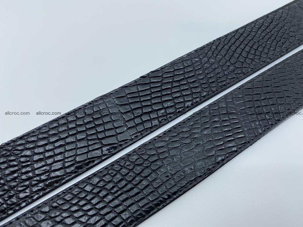 Crocodile leather belt 740 Foto 11