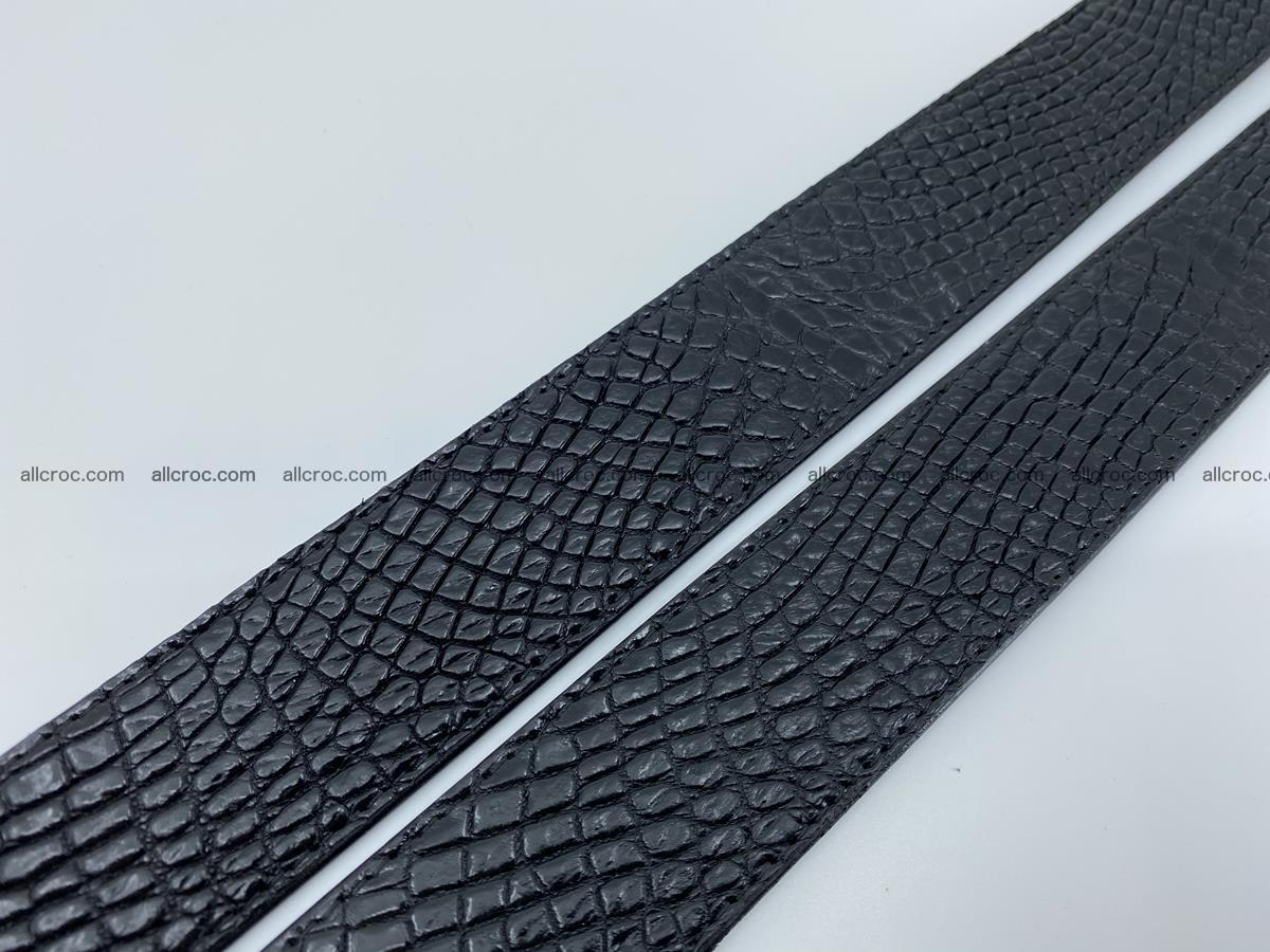 Crocodile leather belt 742 Foto 14