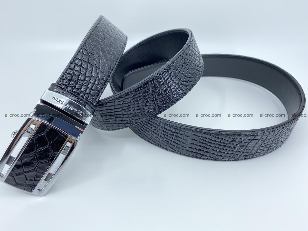 Crocodile leather belt 734 Foto 5