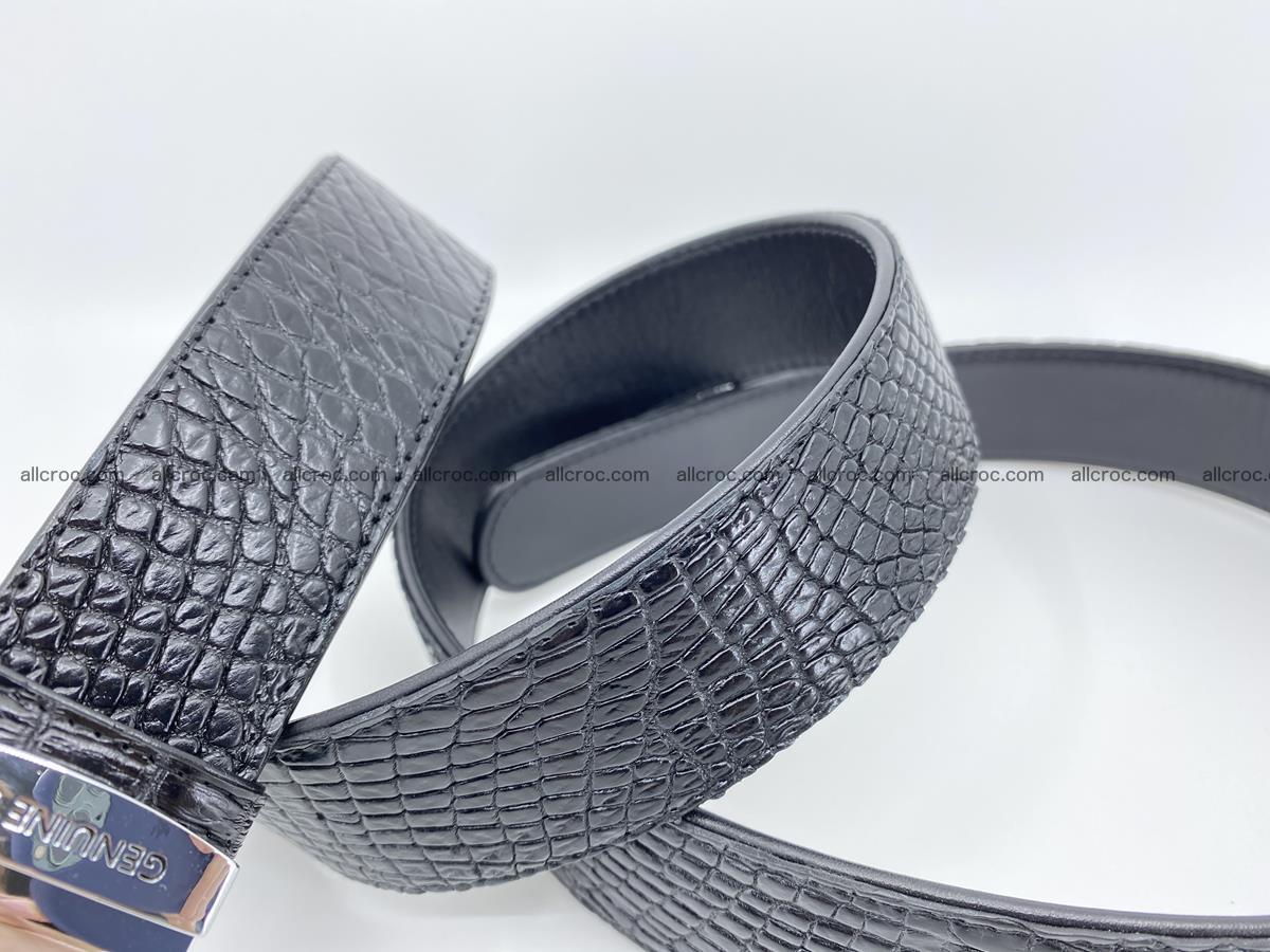 Crocodile leather belt 734 Foto 7