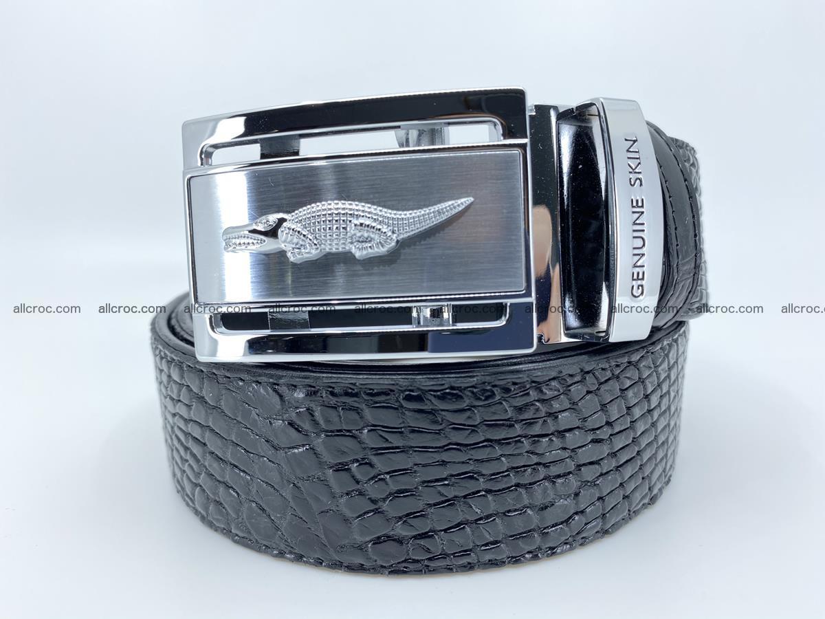 Crocodile leather belt 736 Foto 0