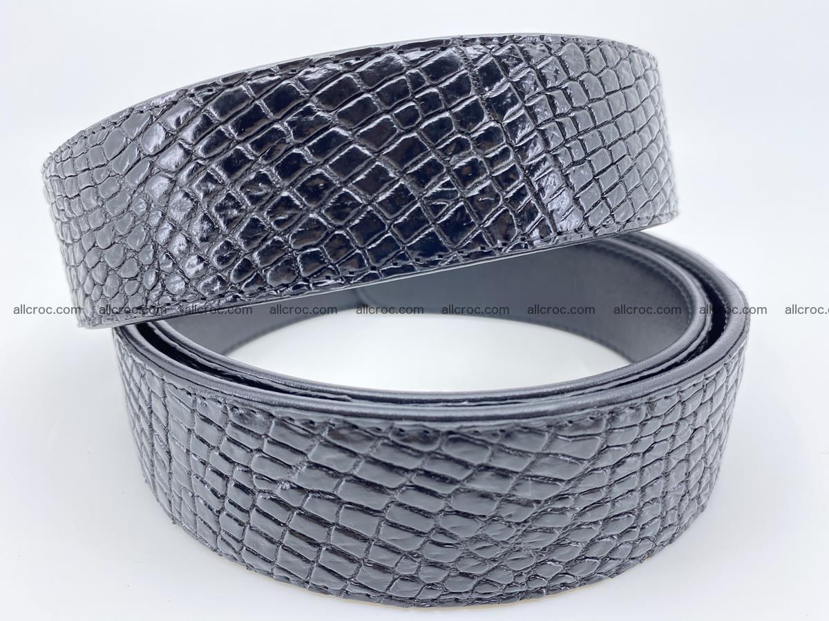 Crocodile leather belt 742 Foto 7
